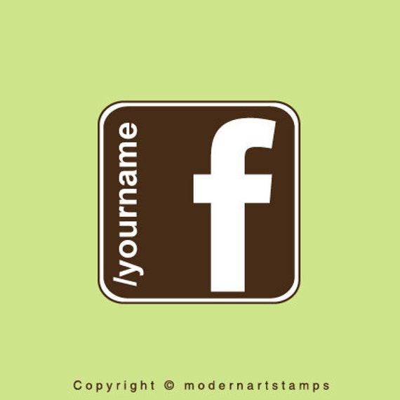 Custom Rubber Stamp   Custom Stamp   Personalized Stamp   Facebook Logo Stamp   Like Me on Facebook Stamp   Find me on Facebook Stamp   C413