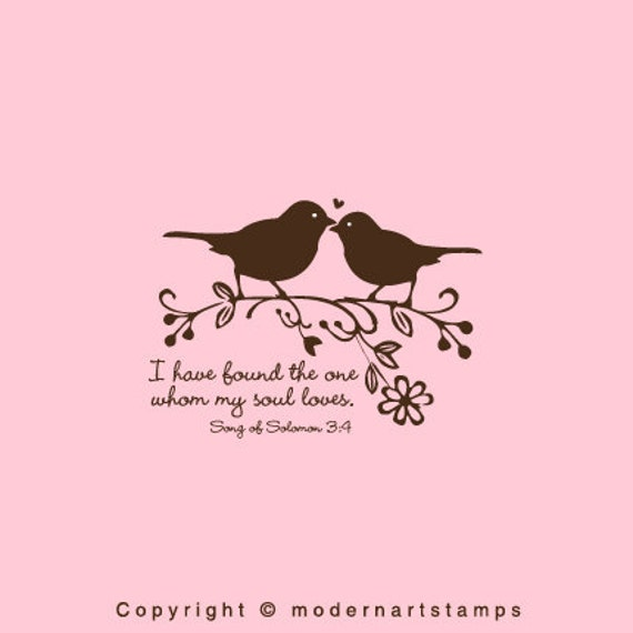 Quotes About Love Birds : Love Birds Stamp Birds in Love Stamp Wedding Stamp I have found the ...