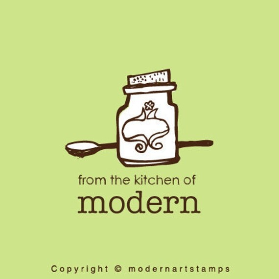 Custom Rubber Stamp   Custom Stamp   Personalized Stamp   From The Kitchen Of Stamp   Jar Stamp   Spoon Stamp   C427