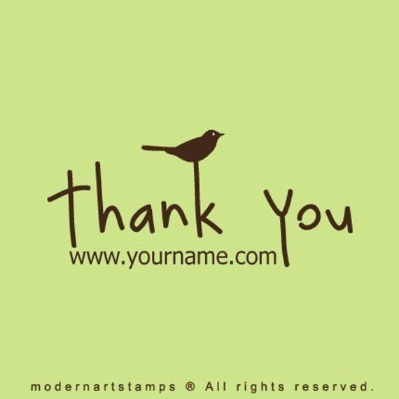 Custom Rubber Stamp   Custom Stamp   Personalized Stamp   Thank you Stamp   Thanks Stamp   Bird Stamp   C24