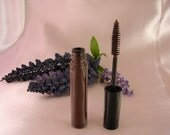 All Natural Mineral Mascara in DARK BROWN  Unscented  made with organic ingredients