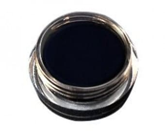 Non Toxic Organic Mineral Gel Eyeliner in INTENSE BLACK   with Radish Root Extract