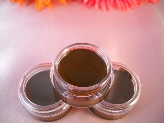 Non Toxic Organic Mineral Gel Eyeliner    Dark Brown   Easy To Use   ON SALE  Cruelty Free Eyeliner