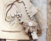 Shipwreck bride - salvage romantic necklace - sea pottery - antique buttons