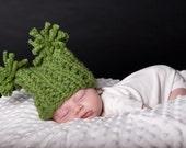 Easy Knit Newborn Photo Prop Hat PATTERN