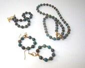 SAVE 25%-Blue Sky Jasper Necklace, Earring, and Bracelet Set
