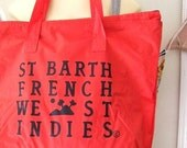 St Barths Red Tote