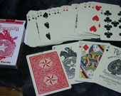 Vintage TEXAN Playing Cards Unique Poker Cards ANTIQUE Style Face Cards First Produced in 1889