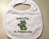 Baby's First St. Patrick's Day Bib -  Small