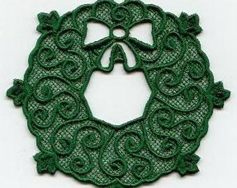 Green Wreath Lace Ornament