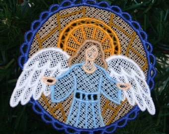 Heavenly Angel Nativity Lace