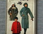 Vintage 1970s Simplicity Coat Pattern 8278