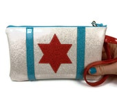 Chicago Flag Clutch Wristet Purse Evening Bag Day to Night