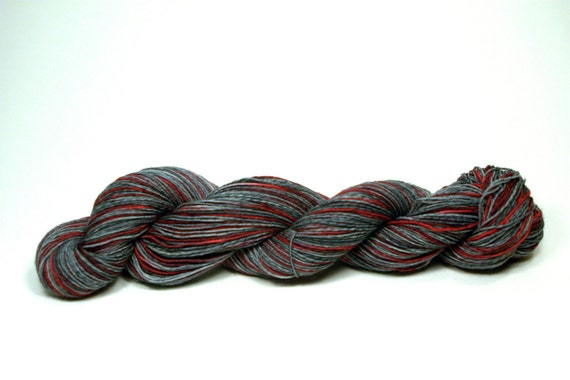 Superwash Sock Yarn Hand Dyed - Chrome and Rust