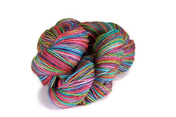 Superwash Merino Wool Sock  Yarn Hand Dyed - Jelly Beans