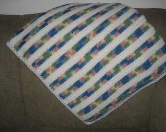 New Soft and Cuddly Hand Crocheted Baby Blanket