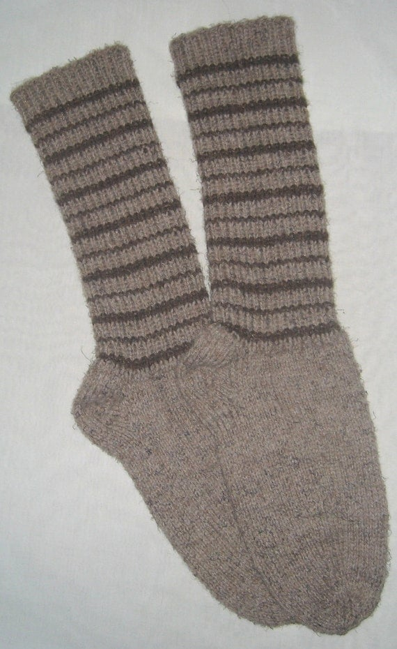 New Warm and Soft Hand Knit Wool Socks (10.0 inches length)