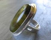 Australian Rosella Opalite Ring in Sterling Silver