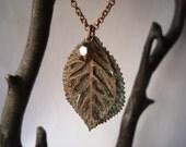 Amber Patina Leaf