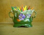 Vintage Small Vase  Toothpick holder  mini bud vase