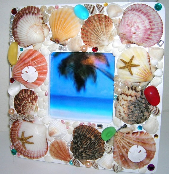 25% Off, Mermaid Treasure Trove Picture Frame - One of a Kind Handmade Art