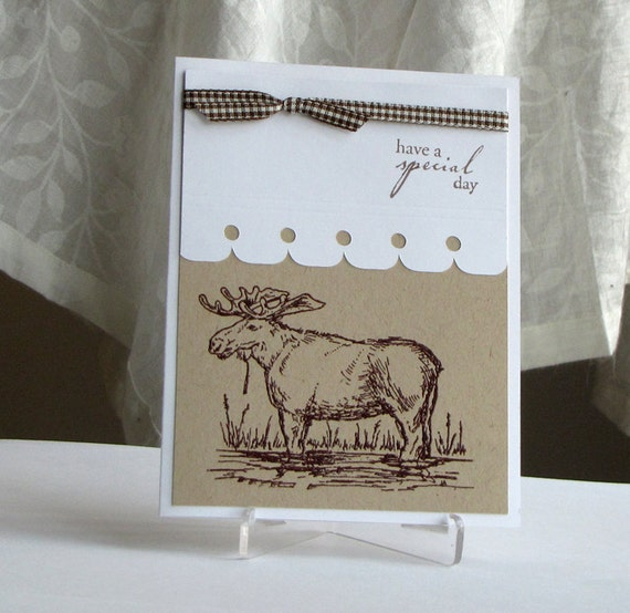 Moose Greeting Card - Special Day - Stamped Greeting Card