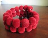 Fuzzy Cherry Bracelet