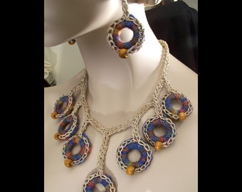 Hemp Neopolitan Style Jewelry Set