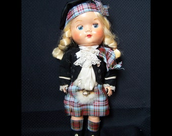 Vintage Doll from Scotland in Ethnic Costume
