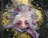 OOAK Gail Lackey Ghost Doll Head Wall Hanging