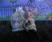 OOAK Ghost Doll Victorian Fairy Miniature Skull Halloween Gail Lackey Ghostie