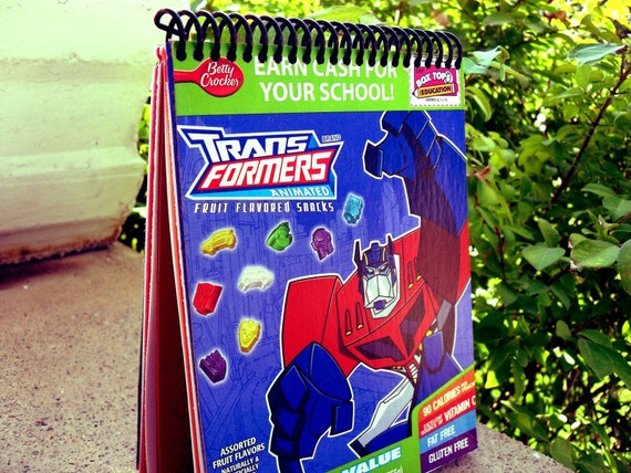 Transformers Upcycled Play Notebook
