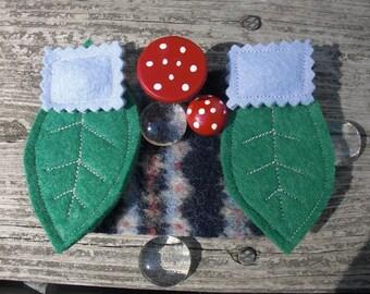 Gnome Furniture Bed Leaf and Mushroom Bedroom Set in Blue