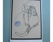 Unique Cat Card Number Four