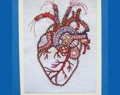 Anatomical Heart Valentine Blank Card