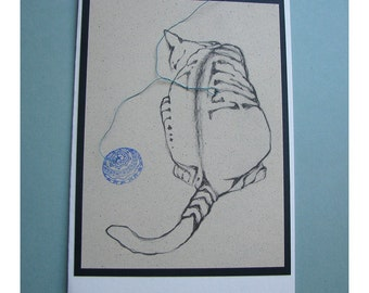 Unique Cat Card Number Four