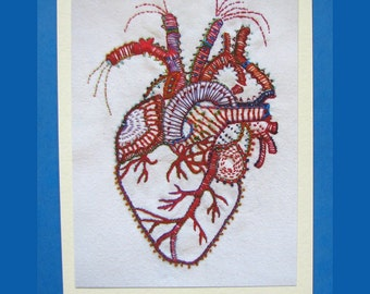 Anatomical Heart Valentine Blank Card