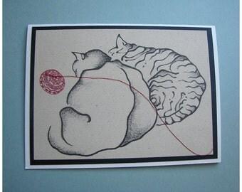 Unique Cat Card Number Three