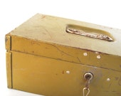 Wonderful Vintage Industrial Olive Drab Lock Box