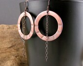 Copper Trends, Sterling Silver And Copper Hoops Earrings