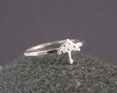 Little Sterling Silver Polka Umbrella Ring