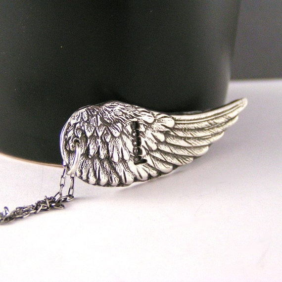 Sterling Silver Angel Wing Peace Necklace