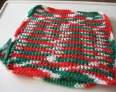 Christmas Crochet Placemats Set of Two