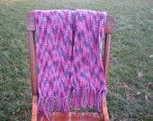 Sale Handmade Crochet Scarf Plum Pudding