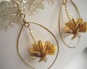 Framed Rose Earrings
