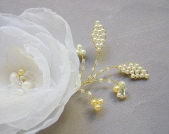 Handmade Bridal Fascinator, Wedding hair accessories, headpieces, silk flower