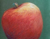One Red Apple - Original Pencil Drawing