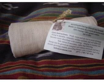 hemp blend dish towel