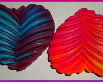 Tie Dye Heart Soap - Wedding - Love - Retro - Hippie - Choose Your Colors and Scent