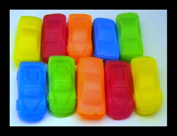 Car Soap - Mini Race Cars - 10 Soaps - Cars - Soap for Boys - Party Favors, Birthdays